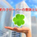 【なぜ、幸運のシンボルなの?】四葉のクローバーの意味・花言葉と見つけ方とは?